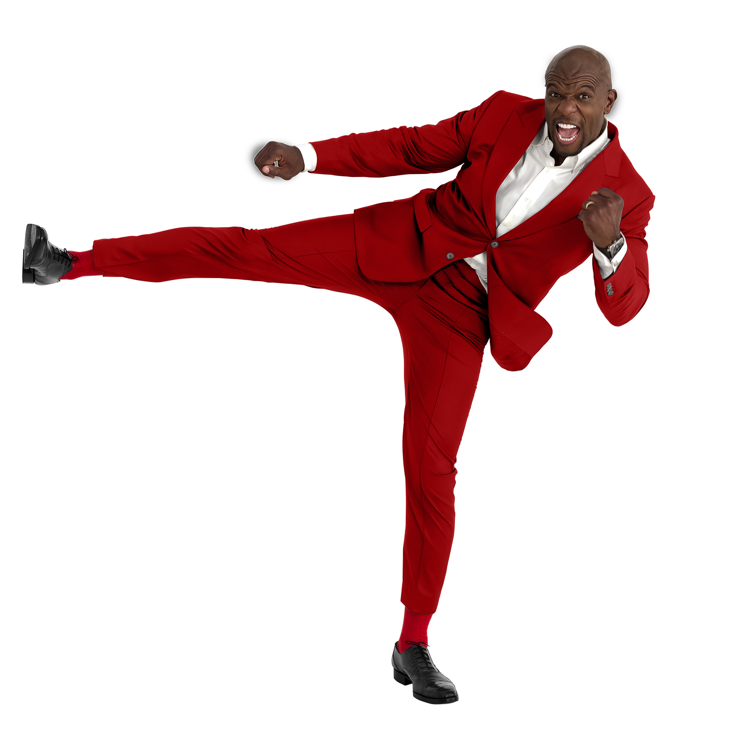 Terry Crews red suit