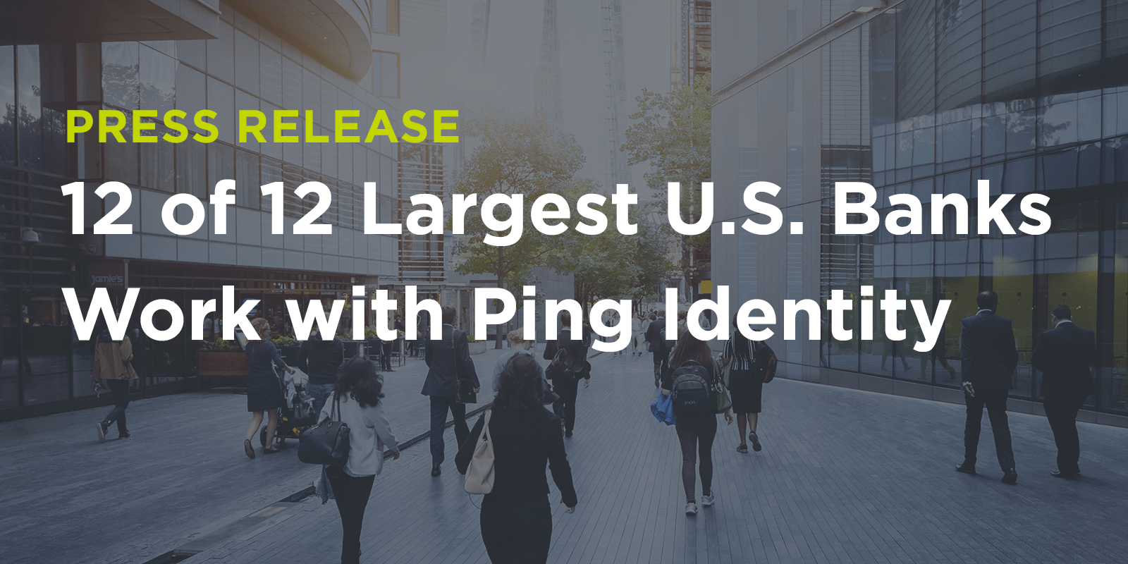 12 of 12 Largest U S  Banks Work with Ping Identity